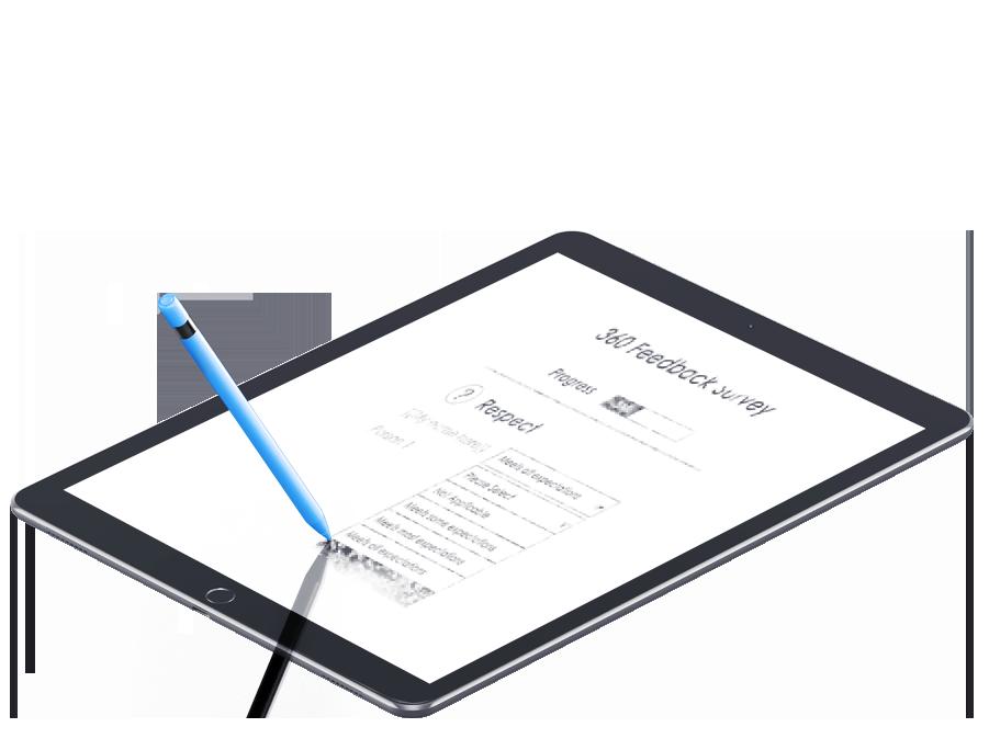 ipad pro sketch survey_blue